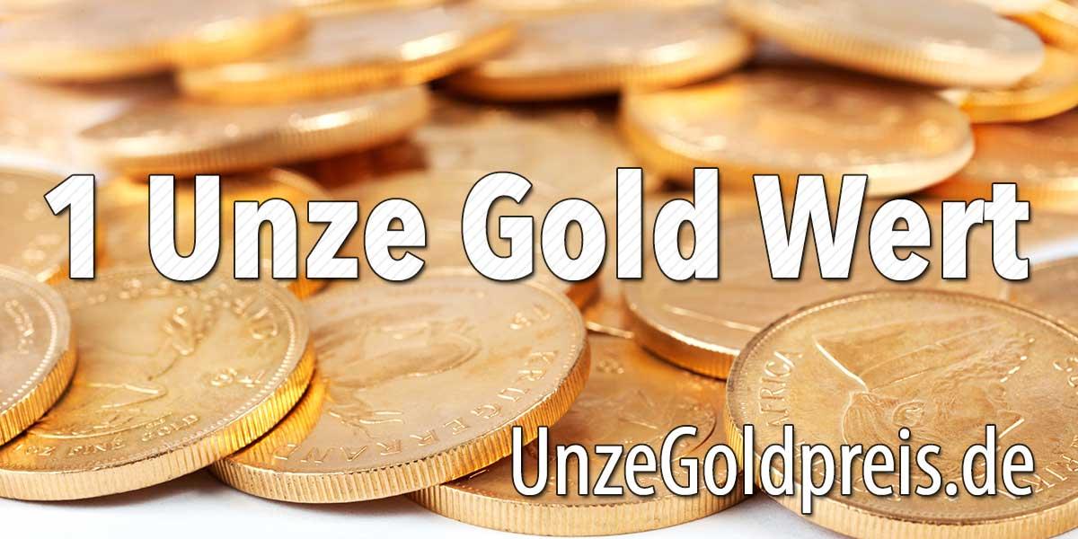 1 Unze Gold Wert