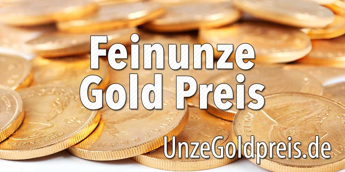 Feinunze Gold Preis