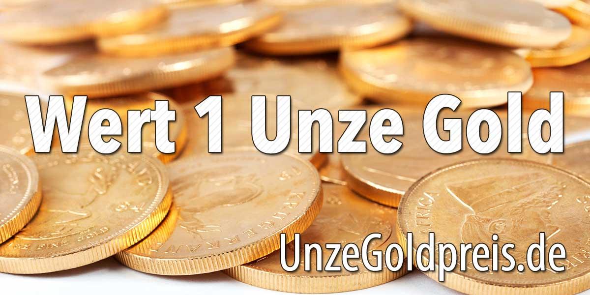 Wert 1 Unze Gold