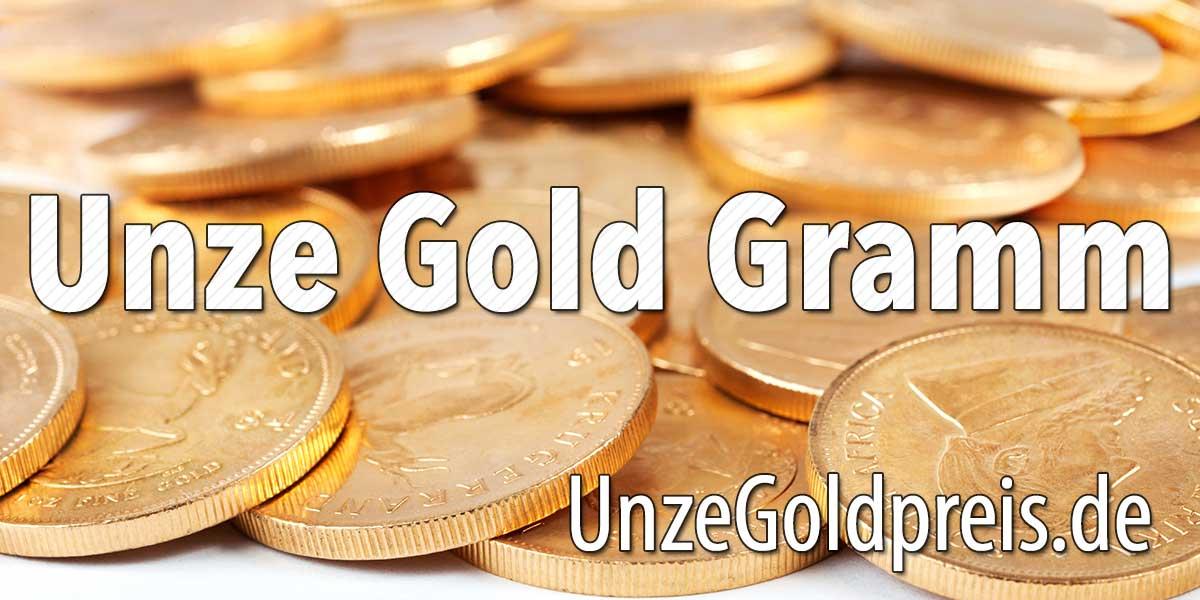 Unze Gold Gramm